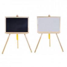 Доска для рисования-мольберт магнитная большая деревянная +мел