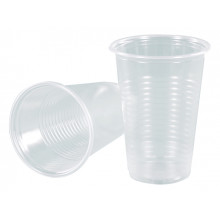 Стакан пластиковый 180 мл прозрачный Buroclean (100) (3000) №1080000