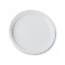 Тарелка пластиковая d-20,5 см белая Buroclean (100) №1080110