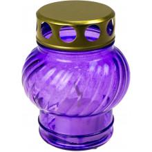Лампада скляна кольорова h-11см (18)