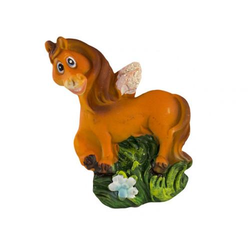 Магнит керамический Лошадь 6 см mix4 №LE32502/32568