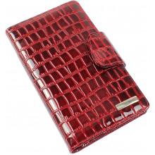 Візитниця на 60 візиток Karya лак кроко шкіряна червона 008-08
