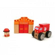 Игрушка деревянная звуковые блоки Пожарная станция Top Bright (5) №150176