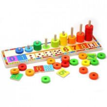 Іграшка дерев'яна веселка вчимося рахувати (15) 6540