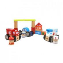 Игрушка деревянная кубики строительные Построй свой город 42 детали Top Bright (16) №120113
