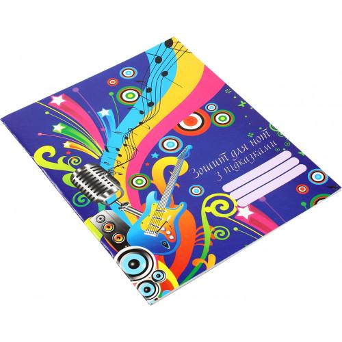 Нотний зошит Супер Рюкзачок А5+ з підказками (5) (40) №ЗН-2