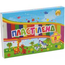 Пластилін 8 кольорів 160 гр Ліпландія/Пластіленд Тетрада (30)