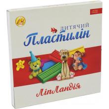 Пластилін 12 кольорів 240 гр Ліпландія/Пластіленд Тетрада (20)