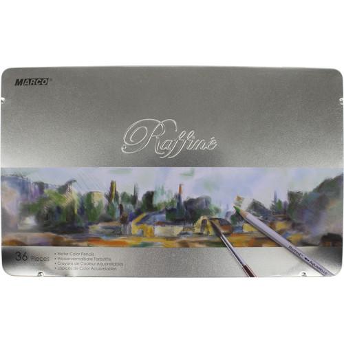 Олівці кольорові 36 кольорів акварельні Marco металева коробка (4) (24) №7120-36TN