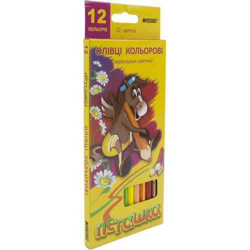 Олівці кольорові 12 кольорів Marco Пегашка (12) (240) 1010-12СВ