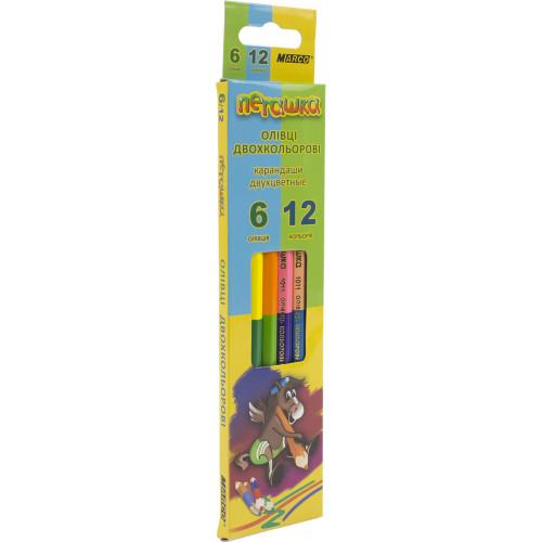 Олівці кольорові Marco Пегашка 12 кольорів 6 шт (24) (480) 1011-6СВ