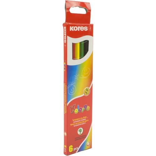 Олівці кольорові 6 кольорів Kores грифель 3мм (8) K96306