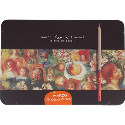 Олівці кольорові Marco Fine Art 48 кольорів металева коробка 48TN
