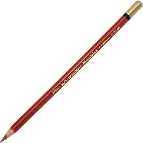 Олівець кольоровий акварельний Koh-i-noor Mondeluz burnt ochre/охра палена 3720/64