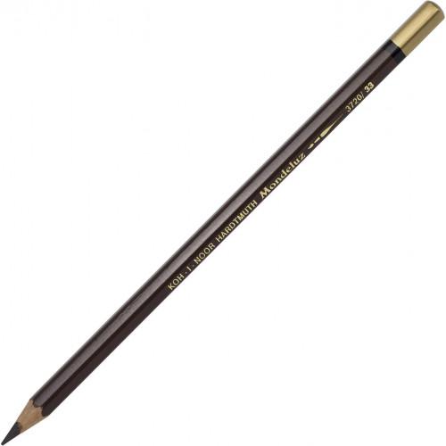 Олівець кольоровий акварельний Koh-i-noor Mondeluz dark brown/темно-коричневий 3720/33