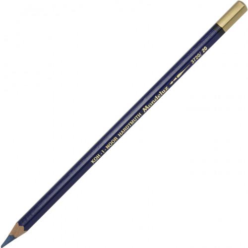 Олівець кольоровий акварельний Koh-i-noor Mondeluz prussian blue/прусська лазур №3720/20