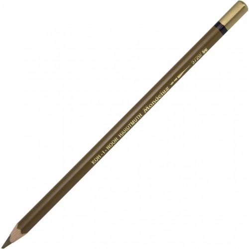 Олівець кольоровий акварельний Koh-i-noor Mondeluz raw umber/умбра №3720/66