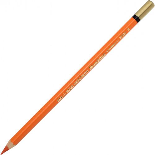 Олівець кольоровий акварельний Koh-i-noor Mondeluz reddish brown/червоно-помаранчевий №3720/5