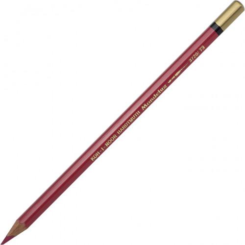 Олівець кольоровий акварельний Koh-i-noor Mondeluz carmine red light/кармін світло-червоний №3720/73