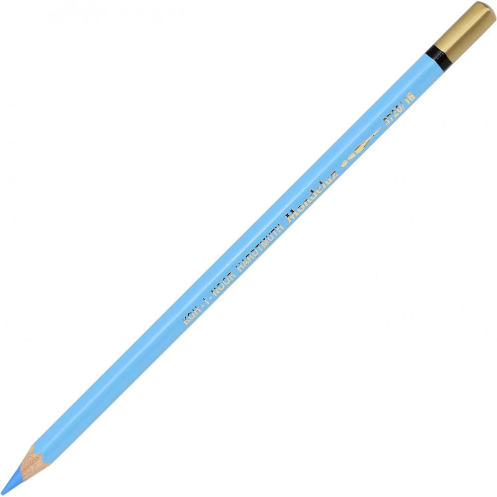 Карандаш цветной акварельный Koh-i-noor Mondeluz cerulean blue/лазурный синий 3720/16