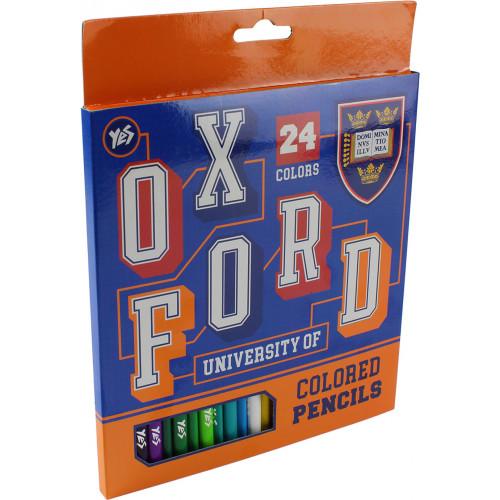 Олівці кольорові 24 кольори Yes Oxford (blue) (6) 290468