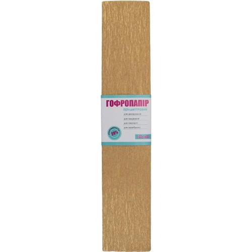 Папір гофра 20% 2мх50см 1 Вересня перламутровий світло-коричневий 705421