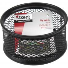 Подставка для скрепок Axent 80х80х40мм металлическая черная (12) №2113-01