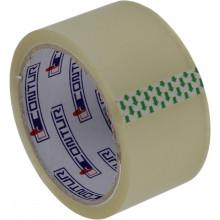 Стрічка клейка пакувальна Contur 48ммх45мх45мкм прозора (пиле, волого, морозостійка) (6) (72)