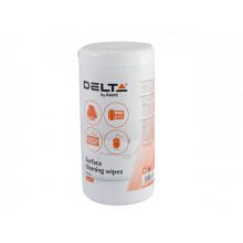 Салфетки влажные для очистки оргтехники Delta by Axent 100шт (12) №5301