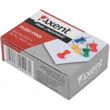 Кнопки-гвоздики Axent цветные 30 шт (20) (240) №4203