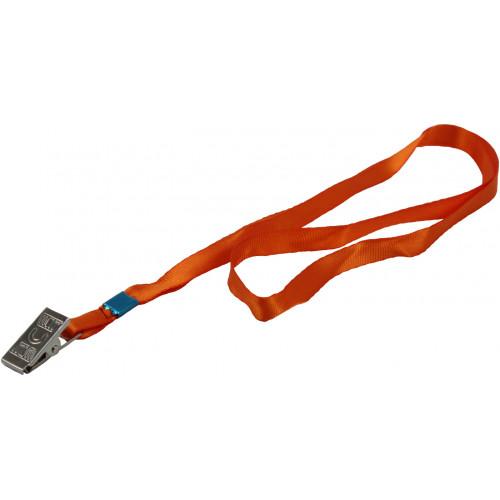 Шнурок для бейджа з металевим кліпом Axent помаранчевий (20) 4532-12