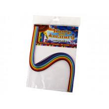 Бумага для квиллинга №5 Рюкзачок 5х420мм 7 цветов 98 полосок (20) №УП-45
