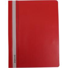 Папка-скоросшиватель Format F38503-03 А4 с перфорацией апельсин прозрачный верх красная (10) F38503-03
