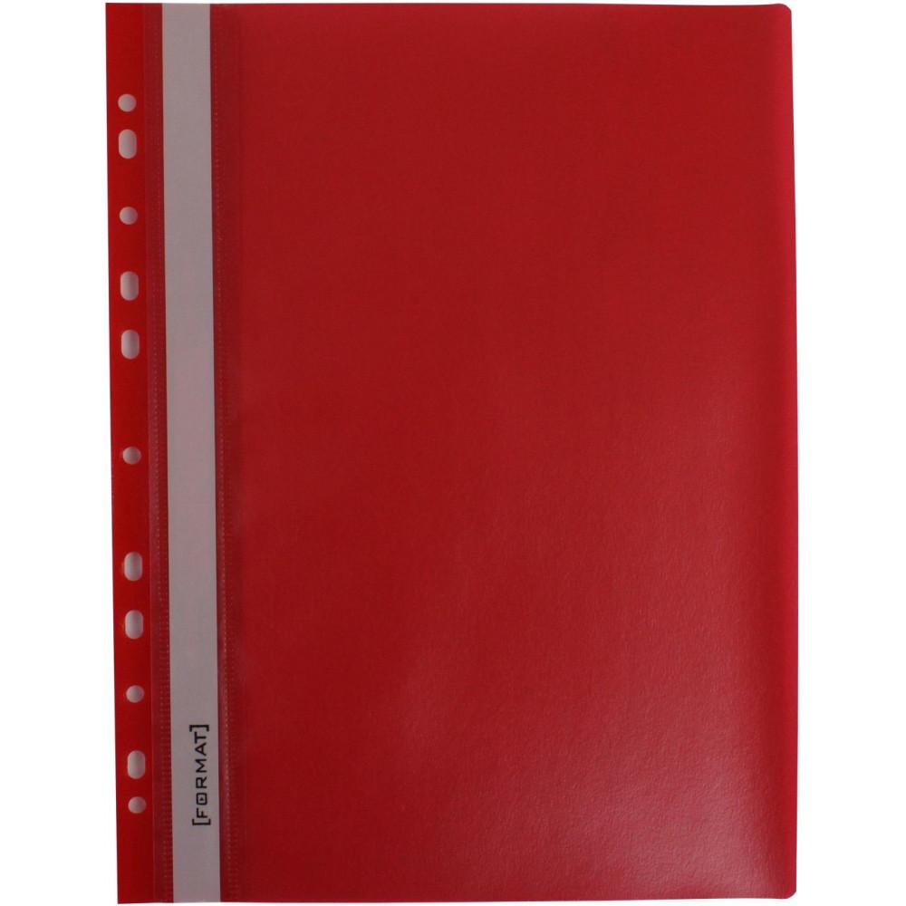 """Папка-швидкозш. """"Economix Light"""" №F38504-03 A4 з прозор.верхом,з перфор.,апельс.,черв.(10)"""