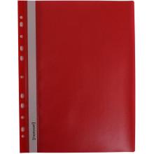 Папка-швидкозшивач Economix Light A4 з прозорим верхом, з перфорацією, апельсин, червона (10) (300) F38504-03