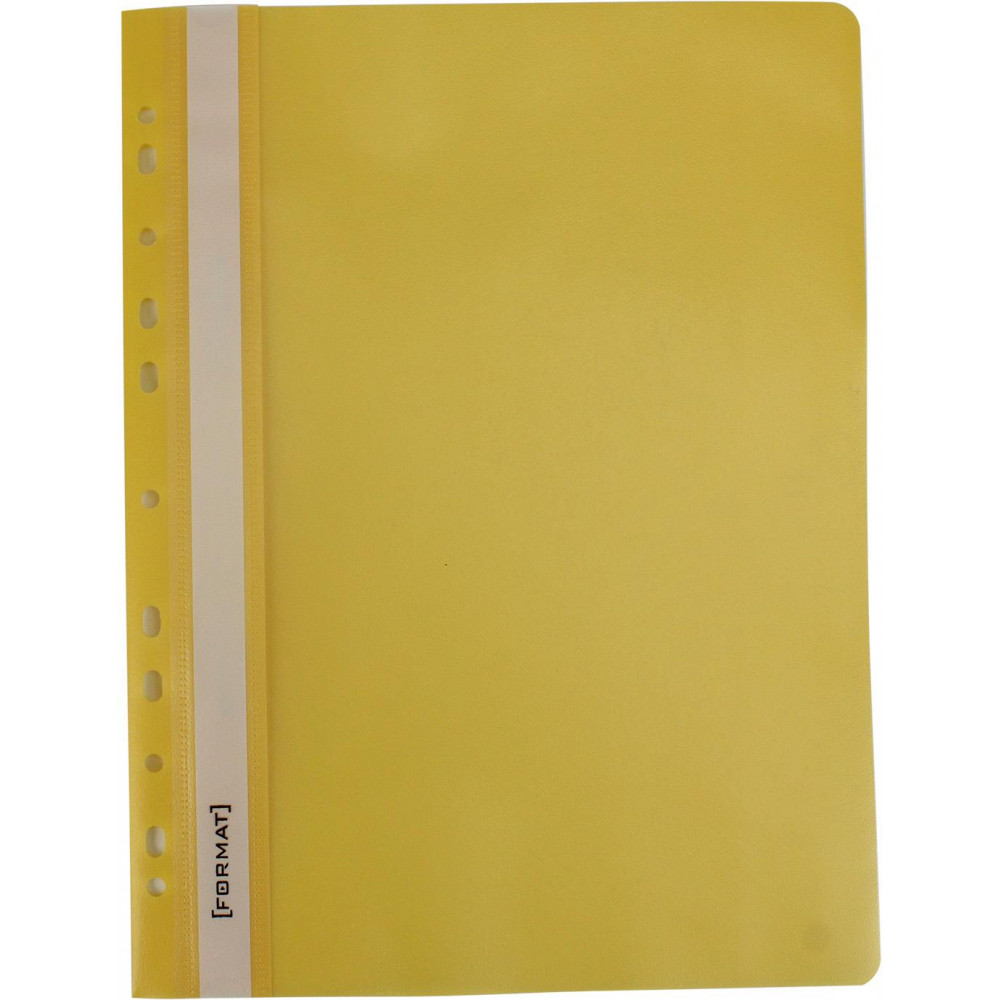 """Папка-швидкозш. """"Economix Light"""" №F38504-05 A4 з прозор.верхом,з перфор.,апельс.,жовта(10)"""