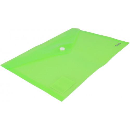 Папка-конверт Axent А5 на кнопці, зелена (12) 1522-25-А