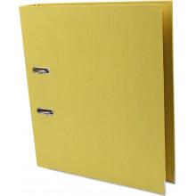 Папка-регистратор А4 Axent 5 см Prestige+ двусторонняя PP желтая собранная (1) (25) №1721-08С-А