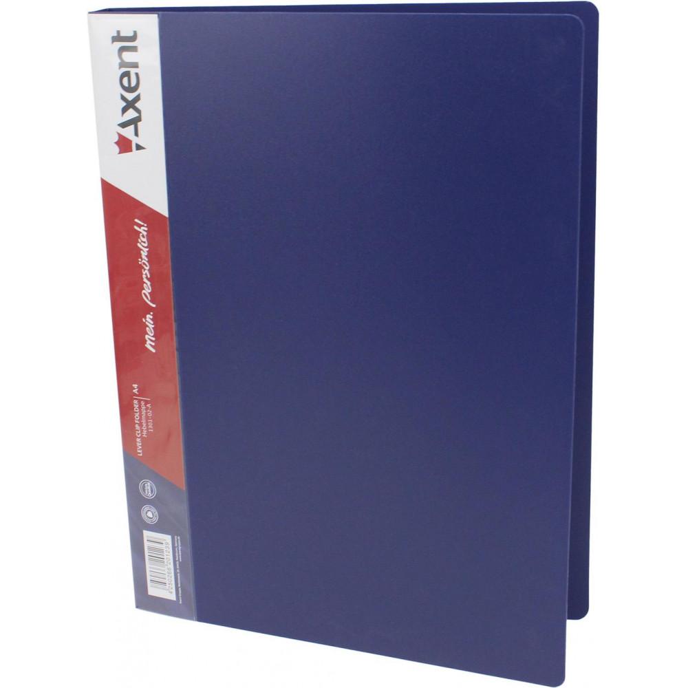 Папка с зажимом Axent 1301-02 А4 синяя