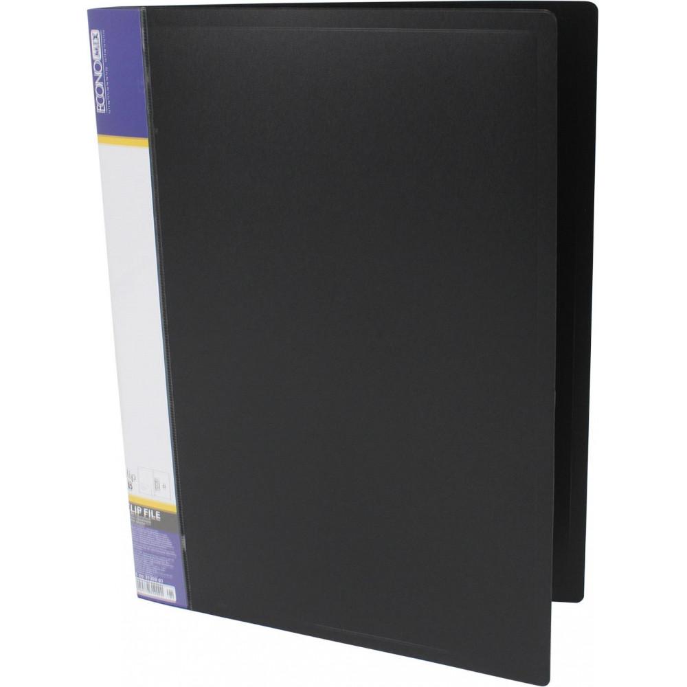Папка с зажимом Economix E31202-01 А4 CLIP B черная