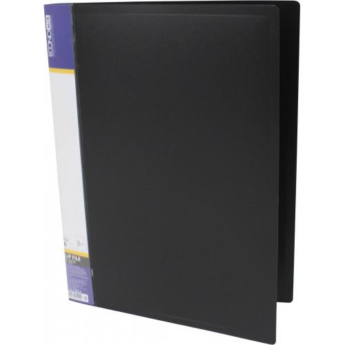 Папка з затиском Economix А4 CLIP B чорна (1) (20) №E31202-01