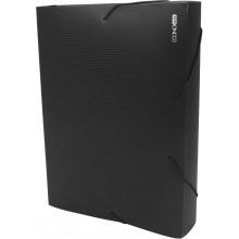 Папка-бокс Economix А4 60мм пластиковая на резинке черная (1) №E31405-01