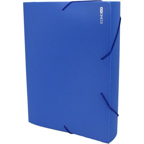 Папка-бокс Economix А4 60мм пластикова на резинці синя (1) (20) E31405-02