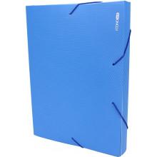 Папка-бокс Economix А4 40мм пластиковая на резинке синяя (1) (20) №E31402-02