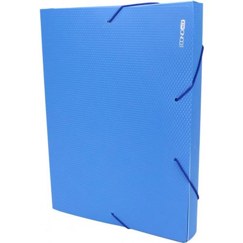 Папка-бокс Economix А4 40мм пластикова на резинці синя (1) (20) E31402-02