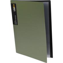 Папка с 10-ю файлами А4 Leo Metallic зеленая (36) №L5110-08/490549