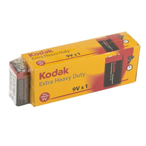 Батарейка Kodak 6F22/1shrink Extra Heavy Duty/LongLife крона (10) (100)