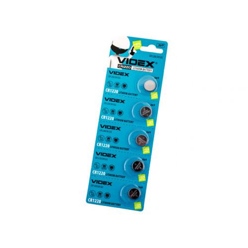Батарейка Videx CR1220/5bl (5) (100)