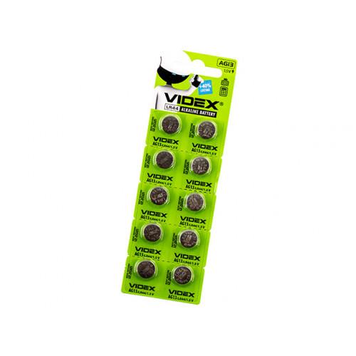 Батарейка Videx AG13/10bl (LR44) (2) (10) (100)