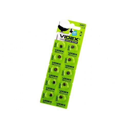 Батарейка Videx AG0/10bl (LR521) (2) (10) (100)